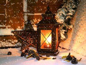 Schnee, Laterne & Stern